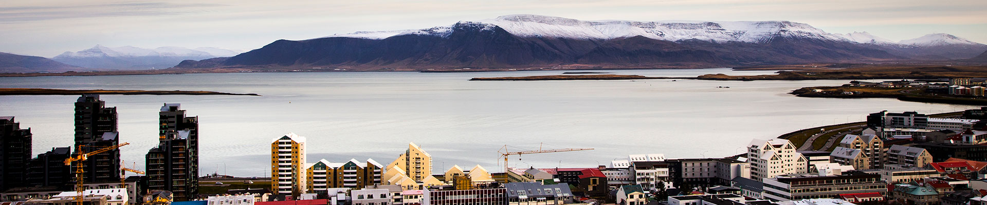 Reykjavik - view to Mount Esja
